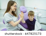 a little boys first check up.... | Shutterstock . vector #647825173