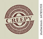 red creepy distressed rubber...   Shutterstock .eps vector #647851933