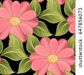 vector seamless floral pattern. ... | Shutterstock .eps vector #647856073