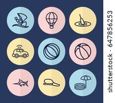 set of 9 sport outline icons... | Shutterstock .eps vector #647856253