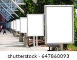 row of buildboards | Shutterstock . vector #647860093