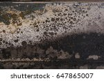 Small photo of perfect irregular color background, old and washed out colors on a scrap like trash surface, chaos and destruction, the end of the world, burnt corrugated lacquer colors rusty metal surface