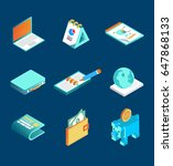 isometric financial icon | Shutterstock .eps vector #647868133