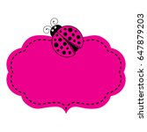 Vector Pink Frame And Label...