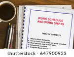 work schedule and shifting... | Shutterstock . vector #647900923