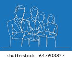 business team   single line... | Shutterstock .eps vector #647903827