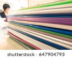 pile of documents | Shutterstock . vector #647904793
