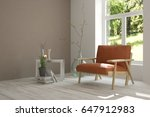 white room with armchair and... | Shutterstock . vector #647912983