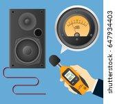 digital sound level meter with...   Shutterstock .eps vector #647934403