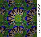 varicolored vector seamless...   Shutterstock .eps vector #647936563