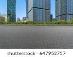 empty asphalt road front of... | Shutterstock . vector #647952757