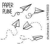 vector paper airplane. travel ... | Shutterstock .eps vector #647953003