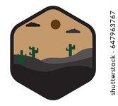 desert landscape icon vintage   Shutterstock .eps vector #647963767