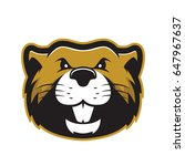 beaver head mascot   Shutterstock .eps vector #647967637