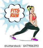 vector illustration sport girl... | Shutterstock .eps vector #647986393