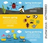 spring nature banner horizontal ...   Shutterstock .eps vector #647988883