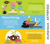spa care banner horizontal... | Shutterstock .eps vector #647989303