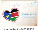 heart logo made from the flag...   Shutterstock .eps vector #647993497