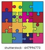 puzzle  set vector symbol icon... | Shutterstock .eps vector #647996773