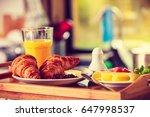 breakfast consisting of... | Shutterstock . vector #647998537