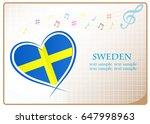 heart logo made from the flag...   Shutterstock .eps vector #647998963