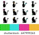 cat silhouettes vector...   Shutterstock .eps vector #647999263