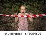 afraid kid at boundary of scene ...   Shutterstock . vector #648004603