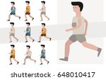 jogging man. vector... | Shutterstock .eps vector #648010417