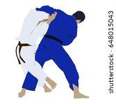 judo wrestling fight two judoka....   Shutterstock .eps vector #648015043