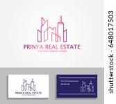 real estate logo   Shutterstock .eps vector #648017503