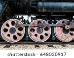 fragment of a retro locomotive... | Shutterstock . vector #648020917