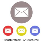 mail icon set | Shutterstock . vector #648026893