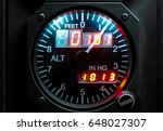 Small photo of Instrument altimeter in airplane