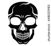 black stylized skull isolated...   Shutterstock .eps vector #648035983