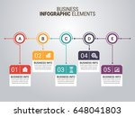 infographic templates in paper... | Shutterstock .eps vector #648041803