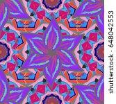 trendy seamless floral pattern. ...   Shutterstock .eps vector #648042553