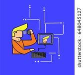 blogger vector illustration...   Shutterstock .eps vector #648045127