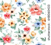 lovely seamless pattern with...   Shutterstock . vector #648060433