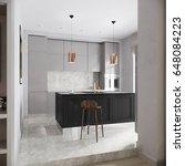modern urban contemporary gray... | Shutterstock . vector #648084223