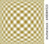 checkered op art vector... | Shutterstock .eps vector #648084523