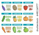 cooking chef information chart  ... | Shutterstock .eps vector #648116977
