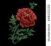 peony flowers  illustration.... | Shutterstock .eps vector #648152233