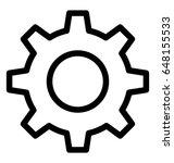 gear line vector icon | Shutterstock .eps vector #648155533