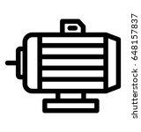 water pump line vector icon | Shutterstock .eps vector #648157837