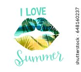 tropical beach summer print... | Shutterstock .eps vector #648160237