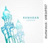 ramadan kareem vector... | Shutterstock .eps vector #648169507