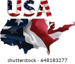 us flag map inner shadow  ... | Shutterstock . vector #648183277