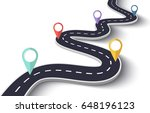 winding road on a white... | Shutterstock .eps vector #648196123