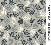 seamless floral pattern.... | Shutterstock .eps vector #648221353