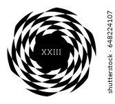 circular spiral element.... | Shutterstock .eps vector #648224107